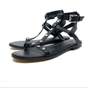 Rebecca Minkoff Sandy Studded T-Strap Sandal D356